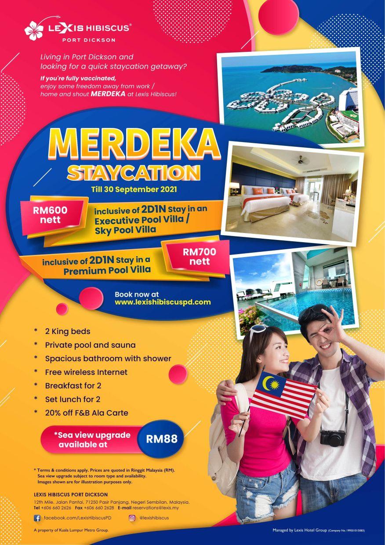 Lexis Hibiscus Merdeka Staycation Flyer